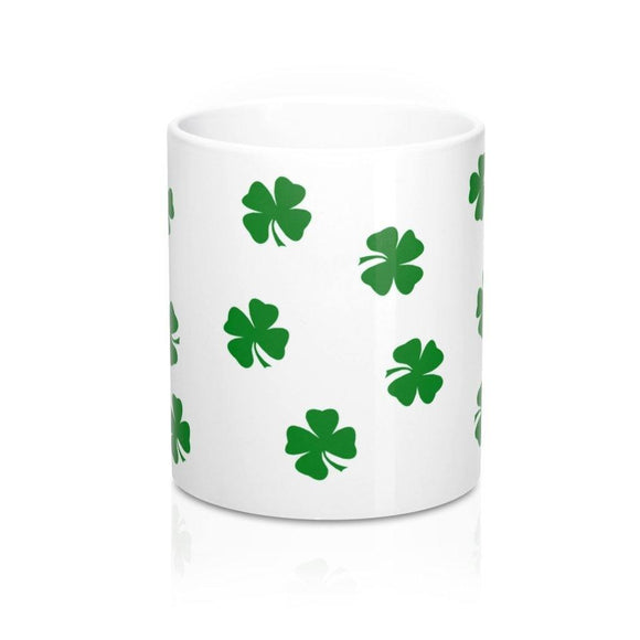 Mug o' Luck: Green Four Leaf Clovers; by PonsART $23.25 - PAMELA'S ART by PonsART - a Gift Shop and Marketplace