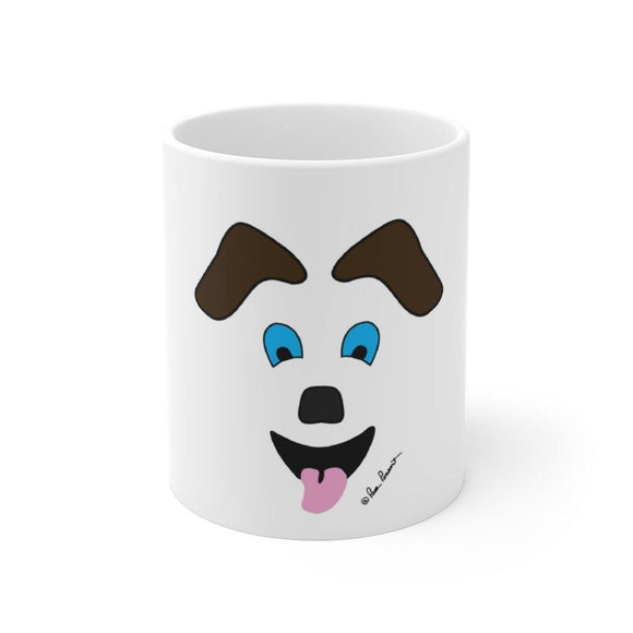 Mug with Dog-Art: White; Ceramic; by PonsArt $23.25 - PAMELA'S ART by PonsART - a Gift Shop and Marketplace