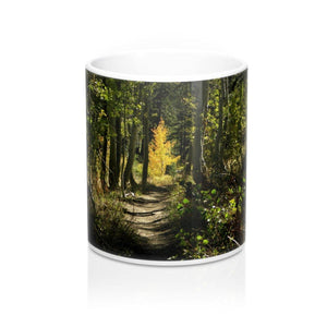 Mug with Forest: White ceramic; Rustic; by PonsART $23.25 - PAMELA'S ART by PonsART - a Gift Shop and Marketplace