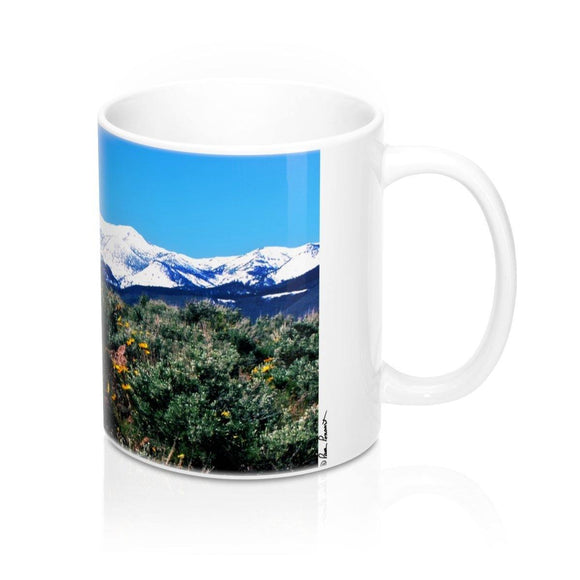Mug with Mountain: White Ceramic; by PonsART $23.25 - PAMELA'S ART by PonsART - a Gift Shop and Marketplace