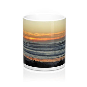 Mug with Seascape: White; Ceramic; by PonsART $23.25 - PAMELA'S ART by PonsART - a Gift Shop and Marketplace