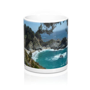 Mug with Waterfall: White; Ceramic; by PonsART $23.25 - PAMELA'S ART by PonsART - a Gift Shop and Marketplace