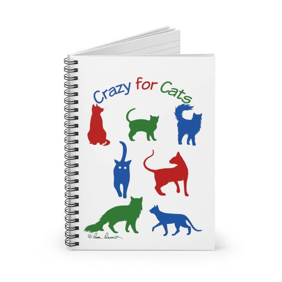 Notebook for Cat-Lover: Spiral bound; Ruled Lines by PonsART $22.95 - PAMELA'S ART by PonsART - a Gift Shop and Marketplace