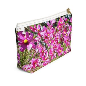 Pink Accessory Pouch: Floral; 2 sizes; by PonsART $18.95+ - PAMELA'S ART by PonsART - a Gift Shop and Marketplace