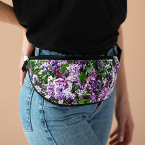 Polyester Fanny Pack: Purple Lilacs; by PonsART $37.95 - PAMELA'S ART by PonsART - a Gift Shop and Marketplace