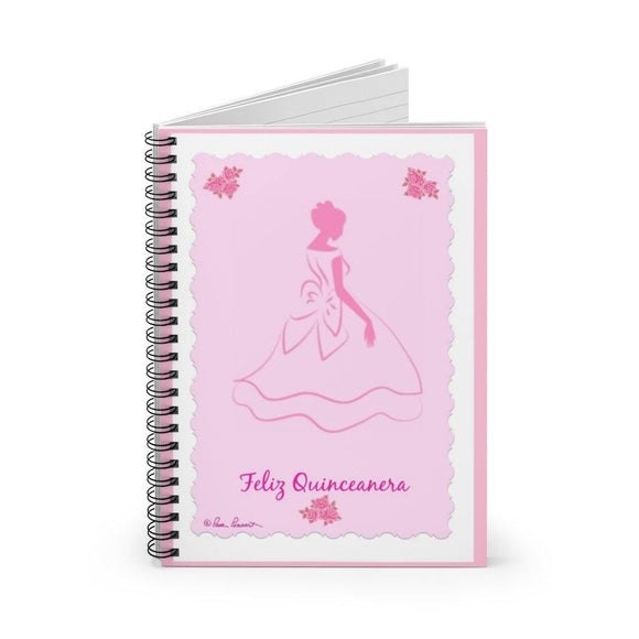 Pretty Pink Notebook: For Quinceanera by PonsART $22.95 - PAMELA'S ART by PonsART - a Gift Shop and Marketplace