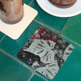 Purple Grapes Coasters: A 4-piece set by PonsART; $20.00 - PAMELA'S ART by PonsART - a Gift Shop and Marketplace