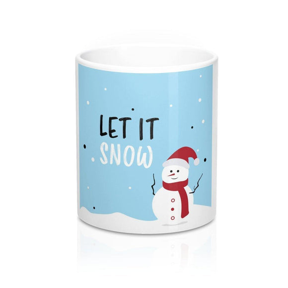 Santa Snowman Mug: White ceramic; by PonsART $23.25 - PAMELA'S ART by PonsART - a Gift Shop and Marketplace
