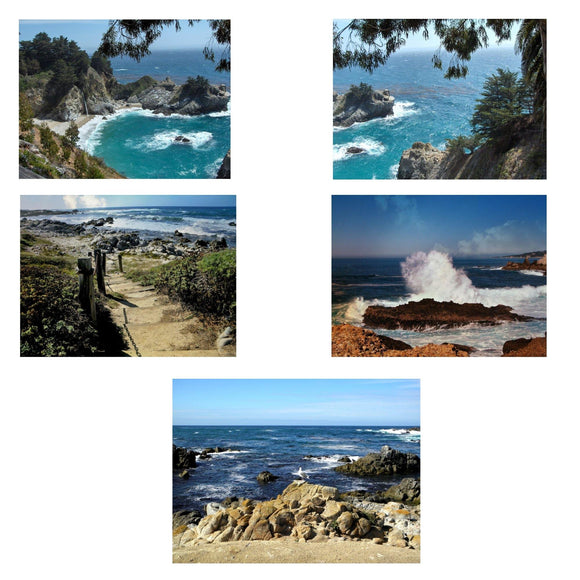 Seascapes Greeting Cards: 5-pc. set by PonsART $21.95 - PAMELA'S ART by PonsART - a Gift Shop and Marketplace