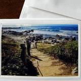 Seaside Greeting Card: Beach Stairs; by PonsART $6.25 - PAMELA'S ART by PonsART - a Gift Shop and Marketplace