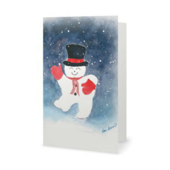 Snowman Greeting Cards: 10-pc. set; by PonsArt $33.95+ - PAMELA'S ART by PonsART - a Gift Shop and Marketplace