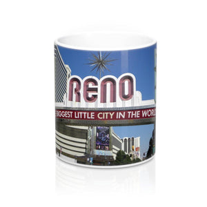 Souvenir Ceramic Mug: Reno Arch; by PonsART $23.25 - PAMELA'S ART by PonsART - a Gift Shop and Marketplace