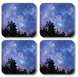 Square Blue Coaster Sets: 2 or 4 pieces by PonsART $12.50+ - PAMELA'S ART by PonsART - a Gift Shop and Marketplace