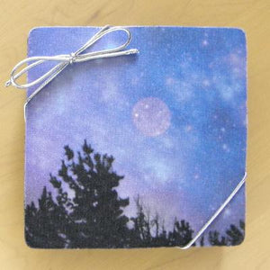 Square Blue Coasters: A 4-piece set by PonsART $20.00 - PAMELA'S ART by PonsART - a Gift Shop and Marketplace