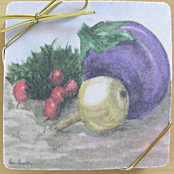 Still-Life Art Coasters: A 4-piece set by PonsART; $20.00 - PAMELA'S ART by PonsART - a Gift Shop and Marketplace