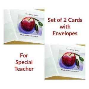 Teacher Appreciation Cards: 2-pc. set by PonsART $10.00 - PAMELA'S ART by PonsART - a Gift Shop and Marketplace
