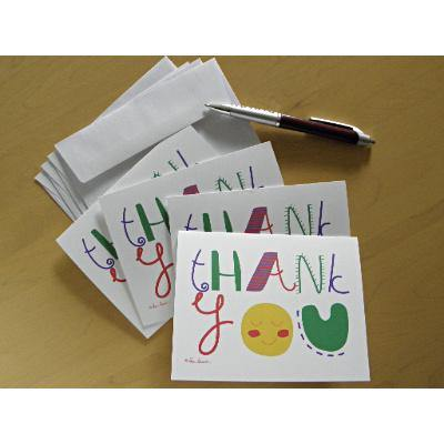 Thank You Note Cards: 4-piece sets; printed; by PonsART $11.95+ - PAMELA'S ART by PonsART - a Gift Shop and Marketplace