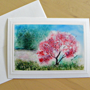 Watercolor Landscape Card: Blank inside; by PonsART $6.25 - PAMELA'S ART by PonsART - a Gift Shop and Marketplace