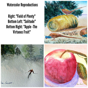 Watercolor Photo Cards: Blank inside; by PonsArt $26.95 - PAMELA'S ART by PonsART - a Gift Shop and Marketplace