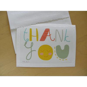 Whimsical Thank-You Cards: Blank inside; by PonsART $6.25 - PAMELA'S ART by PonsART - a Gift Shop and Marketplace