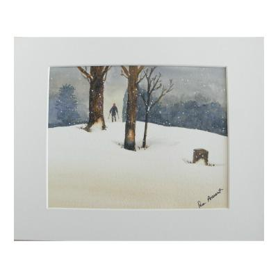 Winter White Snowscape: Gicle'e print by PonsArt $55.00+ - PAMELA'S ART by PonsART - a Gift Shop and Marketplace