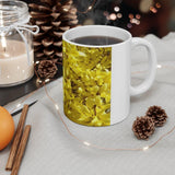 Yellow Forsythia Mug: White ceramic; 11oz by PonsART $23.25 - PAMELA'S ART by PonsART - a Gift Shop and Marketplace