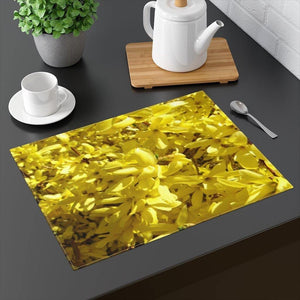 "Yellow Forsythia Placemat: 18"" by 14""; by PonsART $24.95 - PAMELA'S ART by PonsART - a Gift Shop and Marketplace"