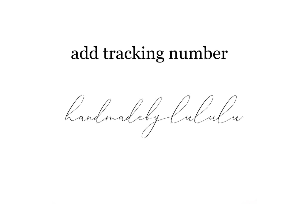 tracking number!
