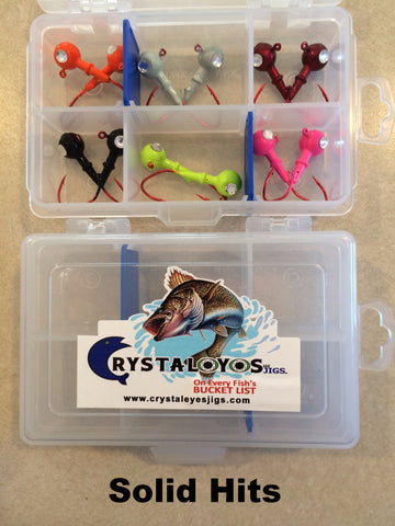 Crystaleyes Classic Pro Packs  (box of 12 jigs)