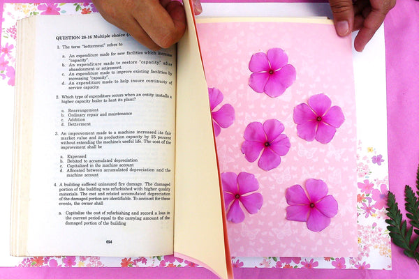 How to press flowers greetings of grace then make a makeshift flower press you can either use a heavy piece of kitchen or floor tile and 2 identically cut pieces of thick illustration board mightylinksfo
