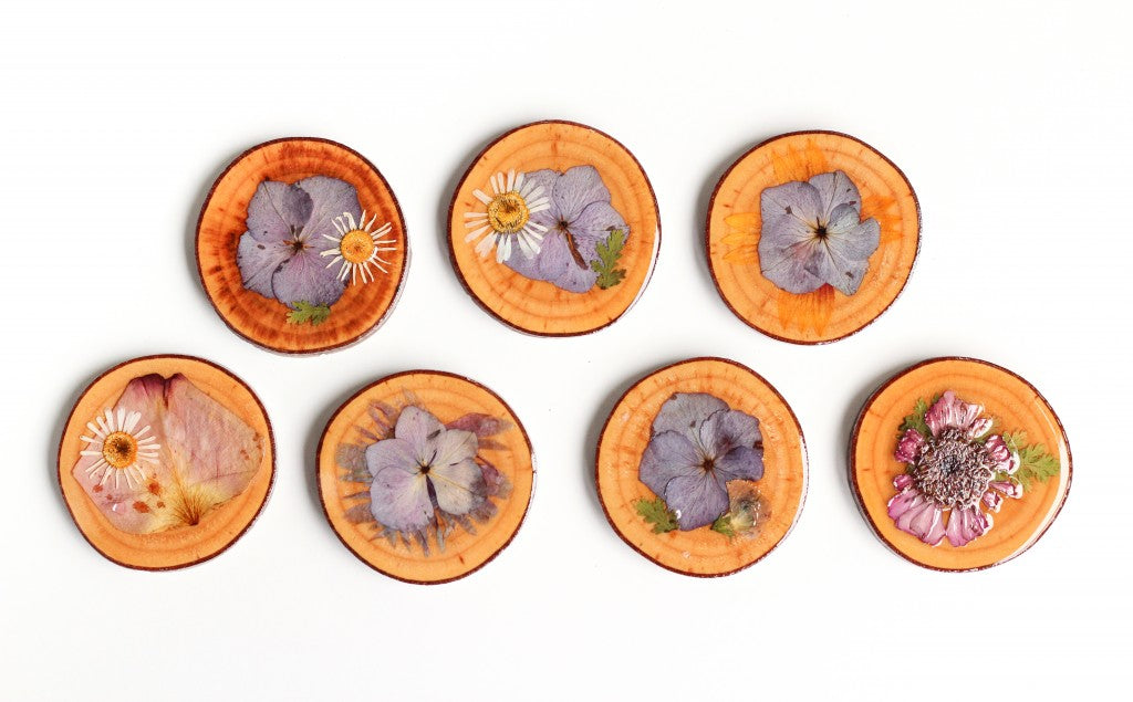 Pressed Flower Coasters by The Crafted Life