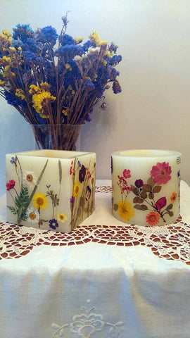 Thalia Kikiza Pressed Flower Candles