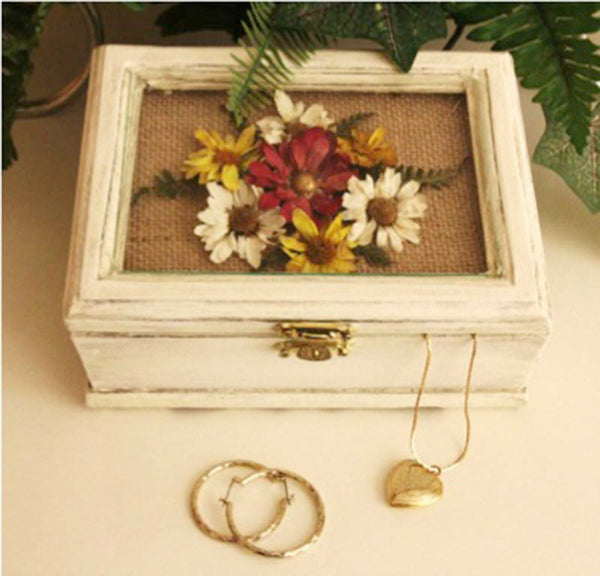 Jewelry Box with Pressed Flowers - Lynn Coulter, The Garden Club