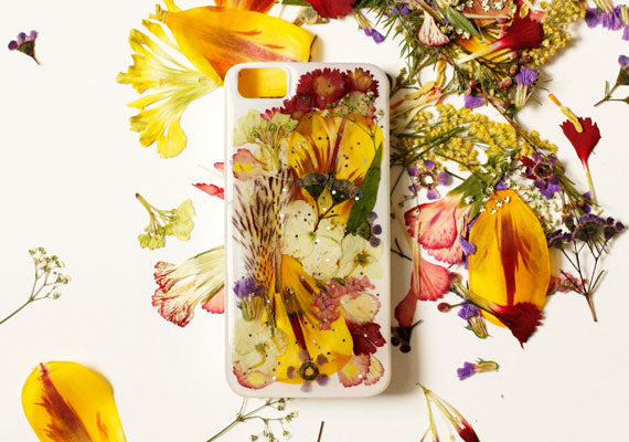 Pressed Flower IPhone Case by Clare McGibbon