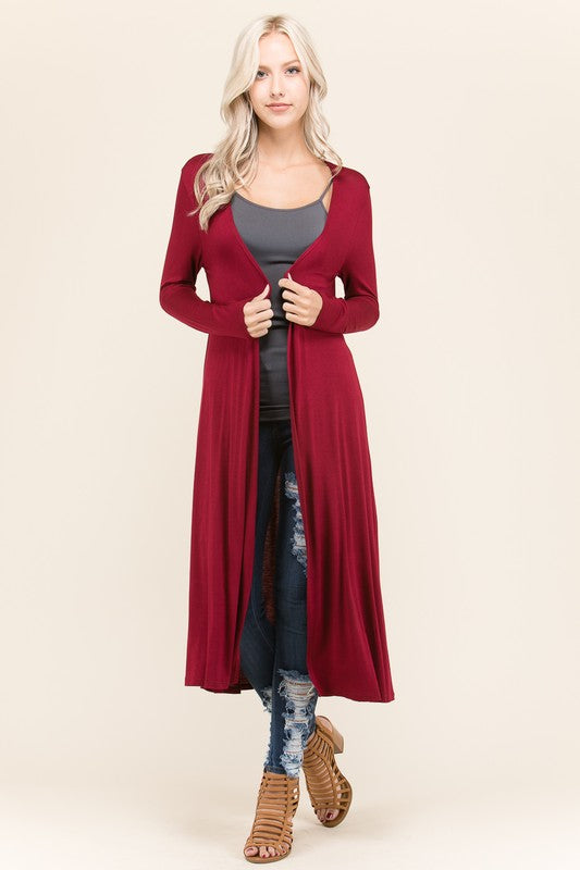 Knit, Relaxed Fit, Midi Length & Casual Style Cardigan