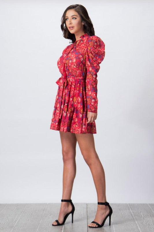 Calin PRINT MINI DRESS