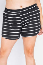 2pc Stripe Curvy Short Set