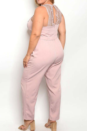 LACE TRIMMED CURVY Jumpsuit