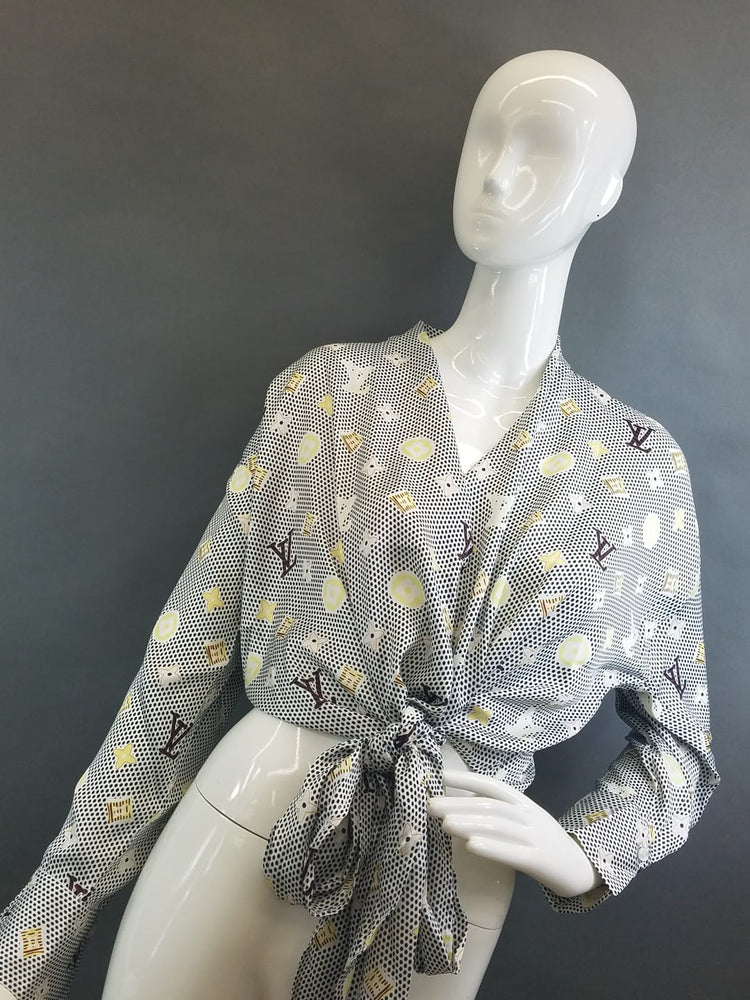 LV Long Sleeve Tie Top