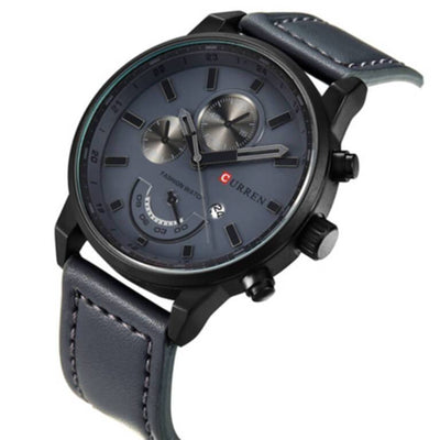 "Αναλογικό Ρολόι Quartz Curren ""EXPLORER""-BLACK-e-chap"