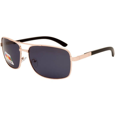 "Ανδρικά Γυαλιά Ηλίου Polarized Aviators ""THETAS"" GOLD-BLACK-e-chap"