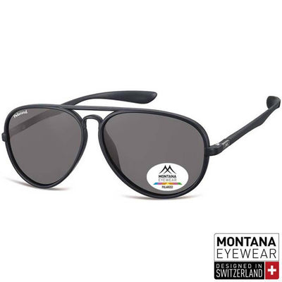 Γυαλιά Ηλίου Aviator Montana Polarized MP29-BLACK-e-chap