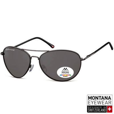 Γυαλιά Ηλίου Aviator Montana Polarized Special MP95-BLACK-e-chap