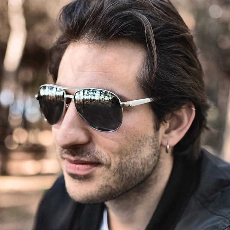 "Γυαλιά Ηλίου Polarized Aviator ""VOLTS""-BLACK-e-chap"