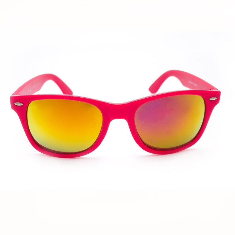"Γυαλιά Ηλίου Unisex Wayfarers ""HIPS"" Orange-DEEPPINK-e-chap"