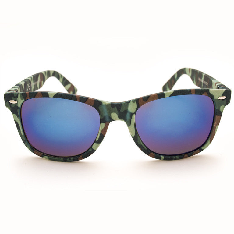 "Γυαλιά Ηλίου Wayfarer ""ARMY SPECCHIO"" Blue-DARKOLIVEGREEN-e-chap"