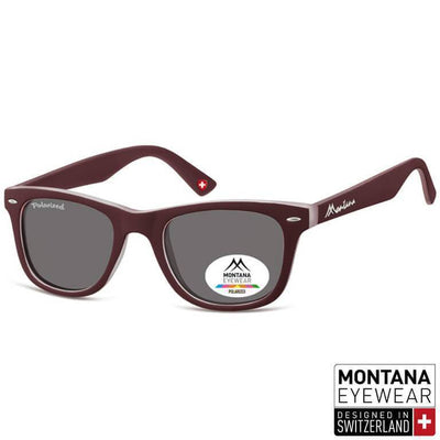Γυαλιά Ηλίου Wayfarer Montana Polarized Color MP41-MAROON-e-chap