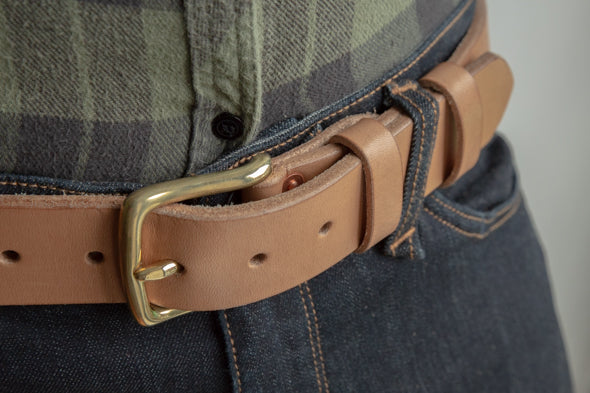Oak Bark Tanner Leather Belt by Tanner Bates