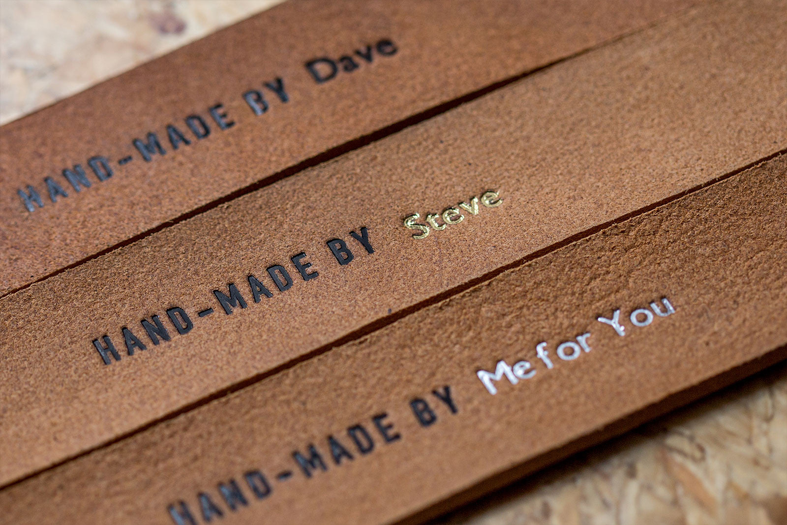 We personalise the belt kit for you with the name of the lucky recipient. – Handmade by …..
