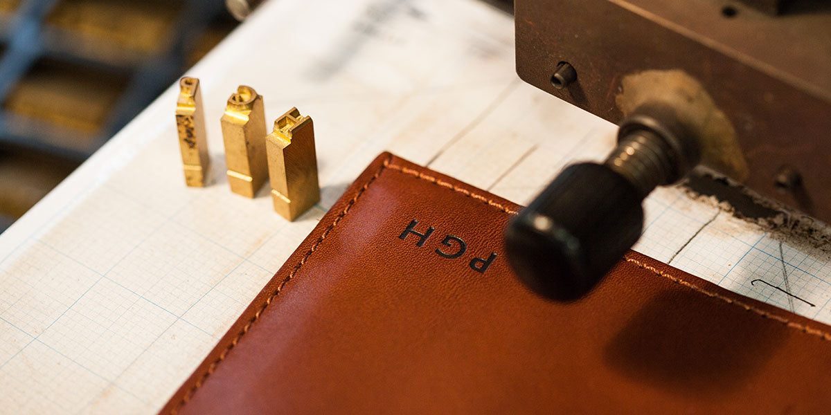 Personalised leather work by Tanner Bates